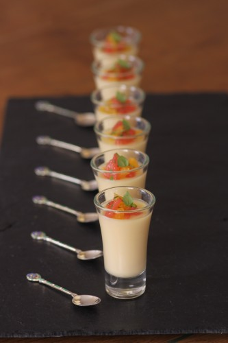 A taste of the clink canap cookbook s lemon posset with for Canape cookbook
