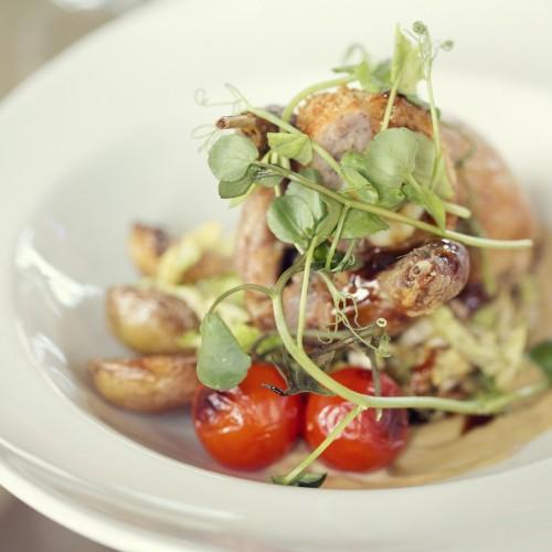 7 - Quail, quail Scotch egg and vegetables