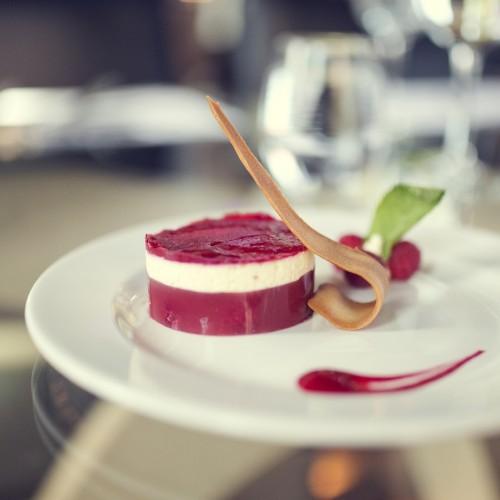9 - Raspberry jelly, panna cotta and raspberry gel